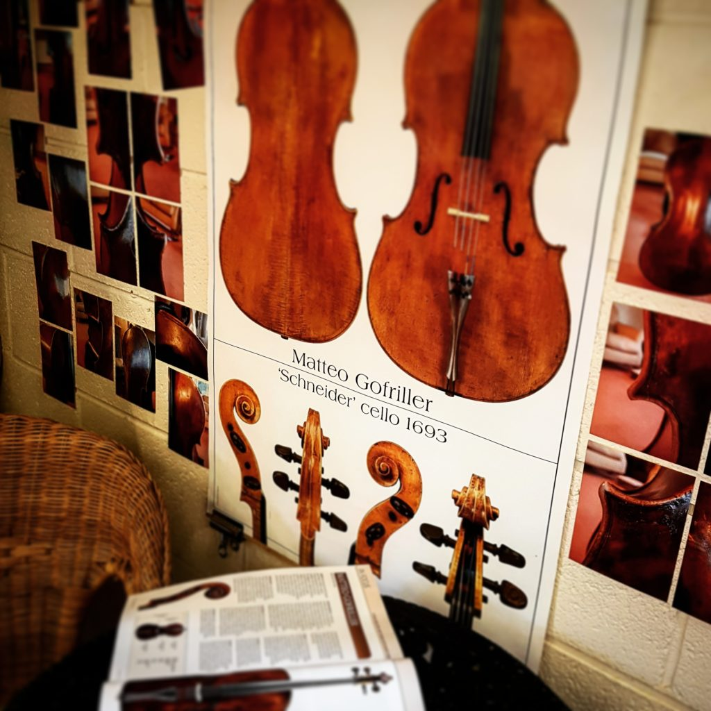 In making a cello inspired by Gofriller I was very grateful to Johannes Goritzski for letting me have an audience with his.